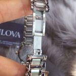 Bulova Diamond Date Stainless Steel Women's Watch 96R105