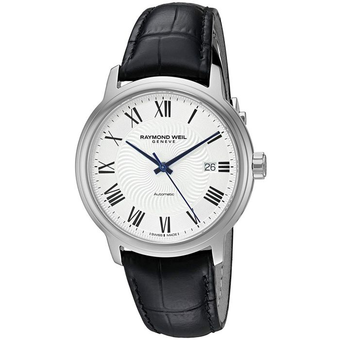Raymond Weil Maestro Automatic Silver Dial Leather Strap Men's Watch 2237-STC-00659