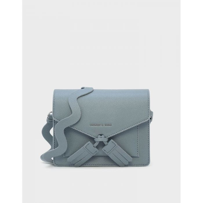 Charles & Keith Tassel Crossbody Steel Blue Women's Bag CK2-80780553