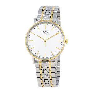 Tissot T-Classic Everytime Mặt Tròn Màu Trắng Dây Kim Loại Màu Bạc Pha Vàng T109.410.22.031.00