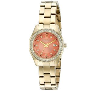 Caravelle Crystal Accent Orange Dial Women's Watch 44M110