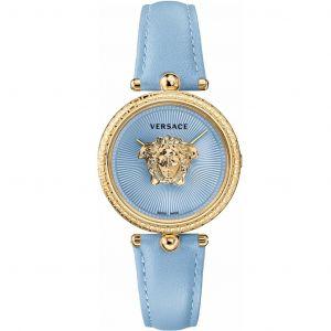 Versace Palazzo Empire Mặt Tròn Dây Da Màu Xanh VECQ00918