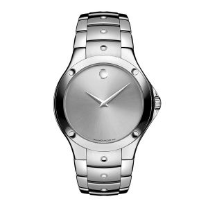Movado SE Swiss Quartz Stainless Steel Dress Silver-Toned Men's Watch 605789