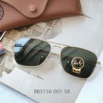 Ray-ban Caravan Arista Frame Green Classic G-15 Sunglasses RB3136 001 58