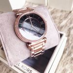 Michael Kors Catlin Black Crystal Pave Rose Gold Dial Plated Women's Watch MK3356