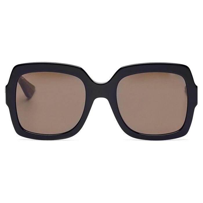 Gucci Square Brown Lenses Women's Sunglasses GG0036S 002 54