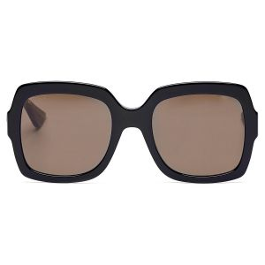 Gucci Square Brown Lenses Women's Sunglasses GG0036S 002 54
