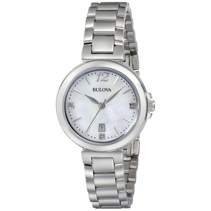 Bulova Diamond Gallery Mother of Pearl Dial Women's Watch 96P149