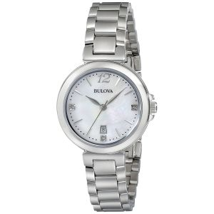 Bulova Diamond Gallery Mother of Pearl Dial Women's Watch 96P149