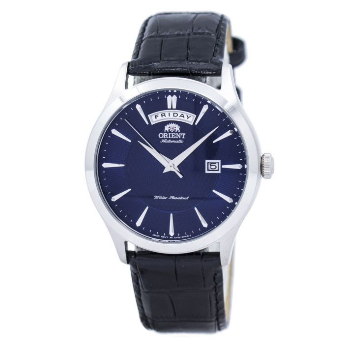 Orient Contemporary Automatic Blue Dial Day Date Men's Watch FEV0V003DH