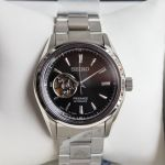Seiko Presage Automatic Open Heart Black Dial Men's Watch SSA357J1