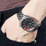 Bulova Accutron II Black Dial Stainless Steel Men's Watch 96B210
