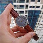 Frederique Constant Classics Automatic Grey Dial E Strap Men's Watch FC-303LGR5B6