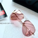 Ray-ban Pink Rimless Aviator Sunglasses RB3449 001/E4 59-14