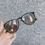 Ray-ban Erika Color Mix Nylon Gold Mirror Sunglasses RB4171 601/5A 54-18