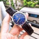 Orient Howard Automatic Mặt Tròn Màu Xanh Dây Da Màu Nâu Lịch Ngày FAC05007D0