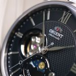 Orient Sun And Moon Automatic Black Dial Open Heart Men's Watch RA-AS0002B10B