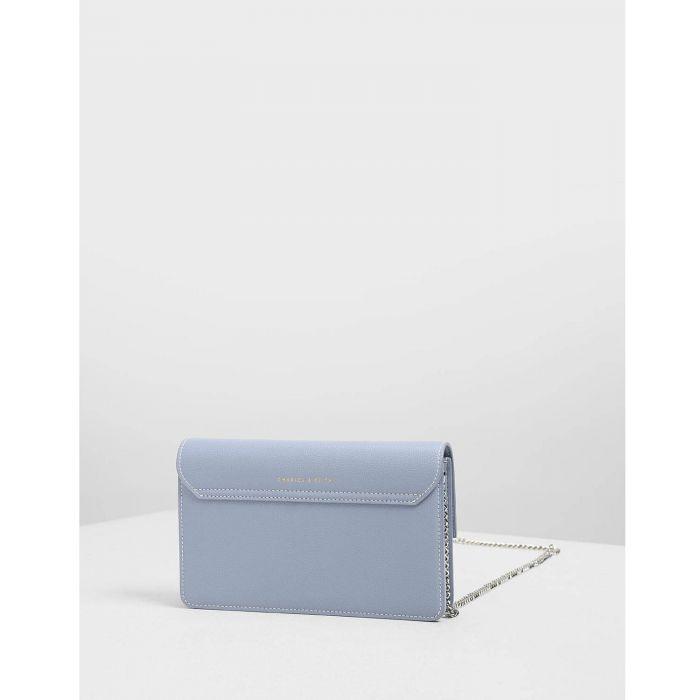 Charles & Keith Chain Blue Push-lock Women's Wallet CK6-10840159