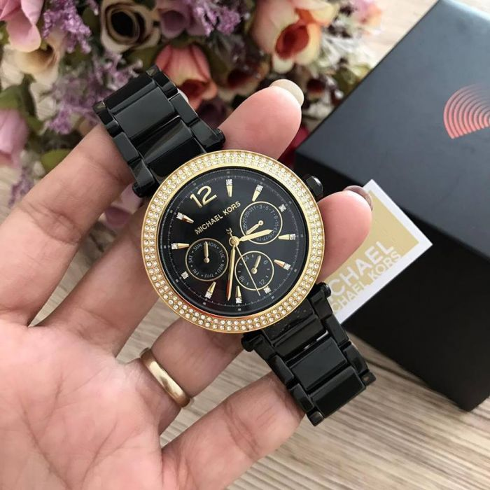 Michael Kors Parker Chronograph Black Women's Watch MK6390
