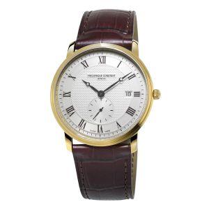 Frederique Constant Classics Slim Line Silver Guilloche Dial Men's Watch FC-245M5S5