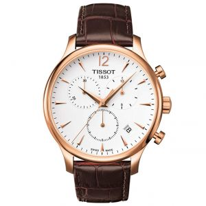Tissot Tradition Chronograph Brown Leather Men's Watch T063.617.36.037.00