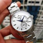Seiko Presage Automatic Power Reserve Silver Men's Watch SSA349J1