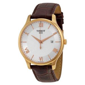 Tissot Tradition Gents Date Brown Leather Men's Watch T063.610.36.038.00