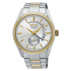 Seiko Presage Automatic Power Reserve Two Tone Men's Watch SSA352J1