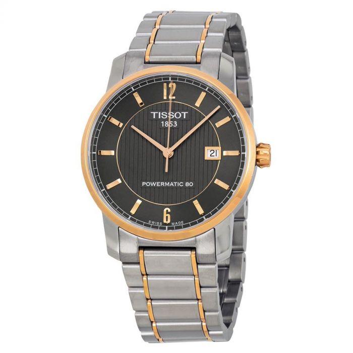 Tissot T-Classic Collection Titanium Automatic Black Dial Men's Watch T087.407.55.067.00