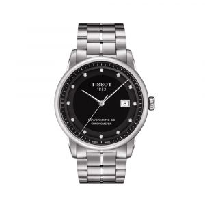 Tissot Luxury Automatic Black Diamond Markers Dial Men's Watch T086.408.11.056.00