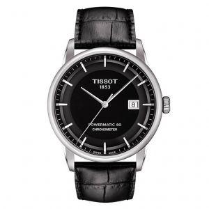 Tissot Luxury Automatic Powermatic 80 Swiss Automatic Black Dial Men's Watch T086.408.16.051.00