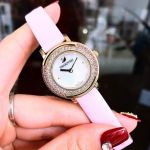 Swarovski Playful Mini Pink Leather Women's Watch 5261462