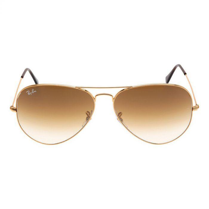 Ray-ban Original Aviator Brown Gradient Metal Sunglasses RB3025 001/51 62-14