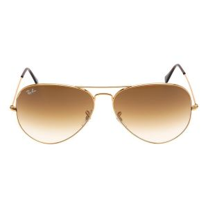Ray-ban Original Aviator Brown Gradient Metal Sunglasses RB3025 001/51 62-14