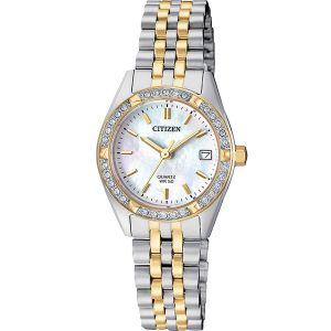 Citizen Swarovski Elegant Two Tone Women's Watch EU6064-54D