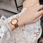 Anne Klein Champagne Diamond Accented Bracelet Rose Gold AK/1362RGRG