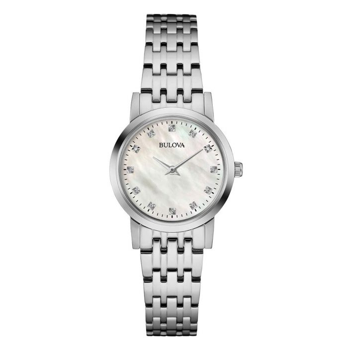 Bulova Diamond Gallery Stainless Steel Women's Watch 96P175