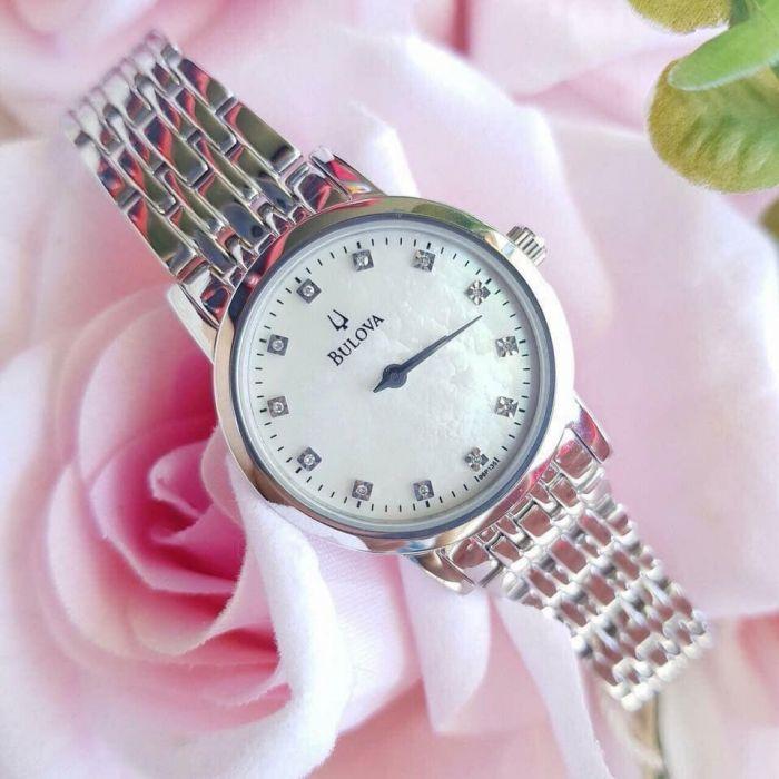 Bulova Diamond Gallery Stainless Steel Women's Watch 96P175