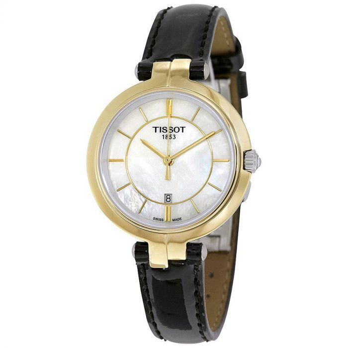 Tissot Flamingo Mother of Pearl Leather Black Women's Watch T094.210.26.111.00