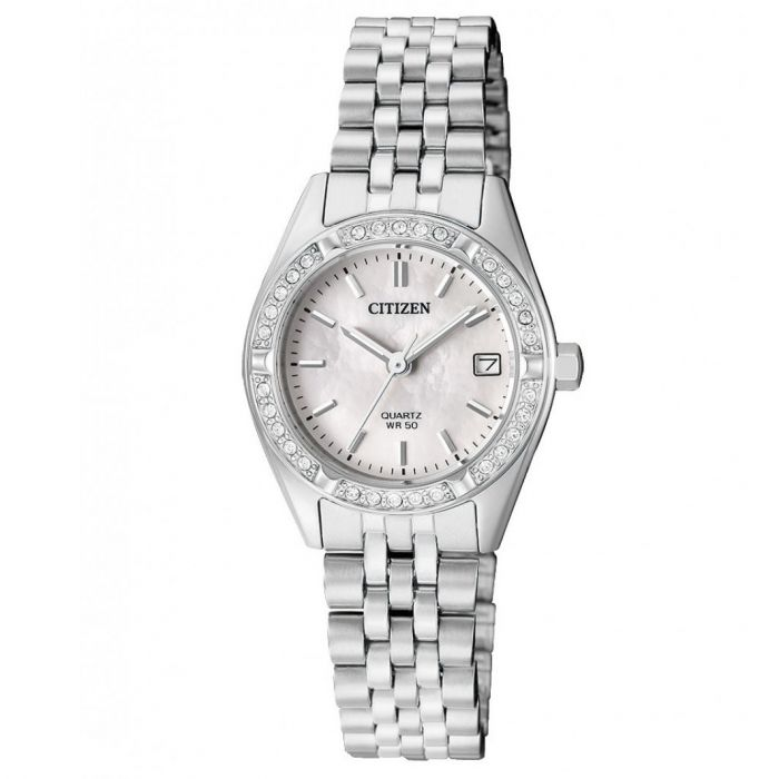 Citizen Swarovski Elegant Silver Women's Watch EU6060-55D