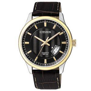 Citizen Standard Black Leather Date Men's Watch BL1054-12E