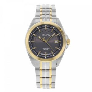 Bulova Precisionist Grey Dial Stainless Steel Dress Watch 98B273