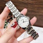 Bulova Diamond Mother of Pearl Date Women's Watch 96P160