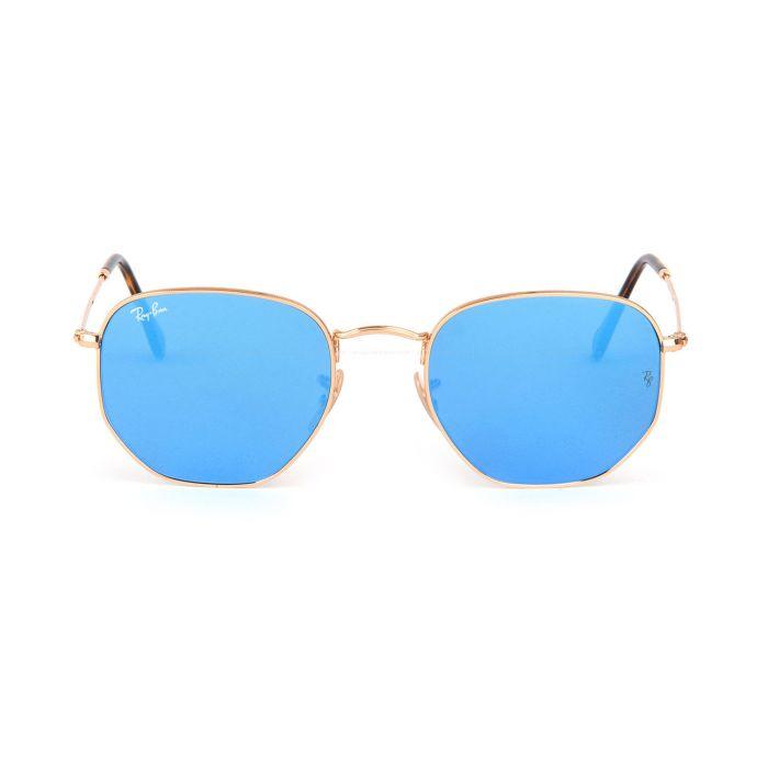 Ray-ban Hexagonal Light Blue Gradient Flash Sunglasses RB3548N 001/9O 54