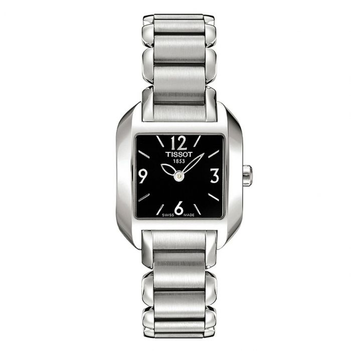 Tissot T-Wave Stainless Steel Black Dial Women's Watch T02.1.285.52