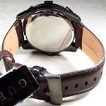 Guess Dynamic Brown Leather Men's Watch U0274G1