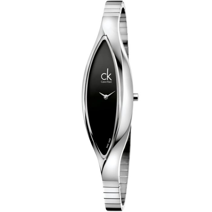 Calvin Klein Sensitive Black Dial Quartz Stainless Steel Women's Watch K2C23102