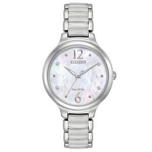 Citizen Chandler Crystal Mother of Pearl Women's Watch EM0550-59D