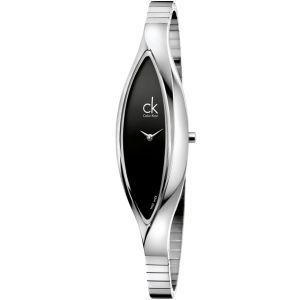 Calvin Klein Sensitive Black Dial Quartz Stainless Steel Women's Watch K2C23102