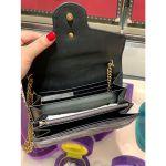 Gucci GG Marmont Matelassé Mini Màu Đen Dây Xích Logo Màu Vàng 474575 DRW1T